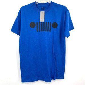 JEEP Blue Logo Tee Car New Short Sleeve Tshirt M